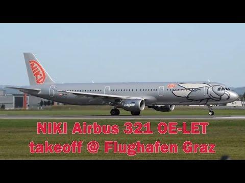 NIKI A321 Takeoff @ Flughafen Graz | OE-LET