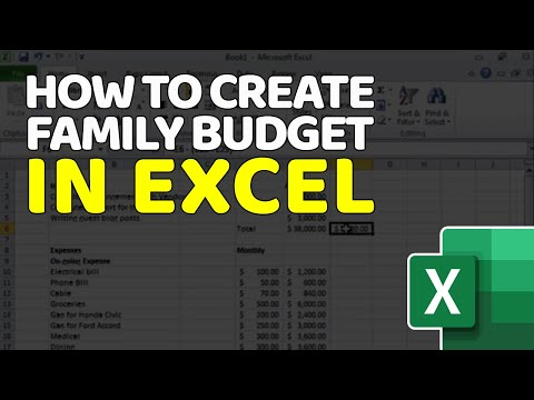 Tutorial - How To Create Annual Budget With Microsoft Excel To
