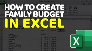 Tutorial - How to Create Annual Budget with Microsoft Excel to balance Income and expenses