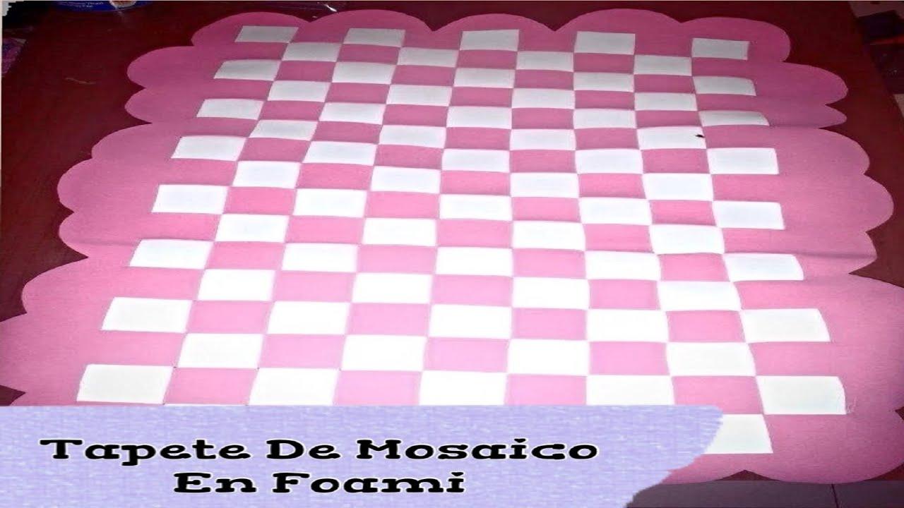 Tapete de mosaico en foami youtube for Como hacer un sobre rectangular
