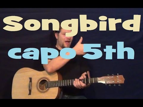 Songbird (Fleetwood Mac) Easy Strum Guitar Lesson -No Barre Chords- How to Play Tutorial