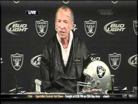 Raiders Press Conference |  Al Davis 1-18-11