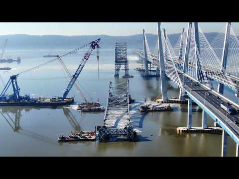 Progress of Dismantling the old Tappan Zee Bridge, 2/4/2019. Update 9