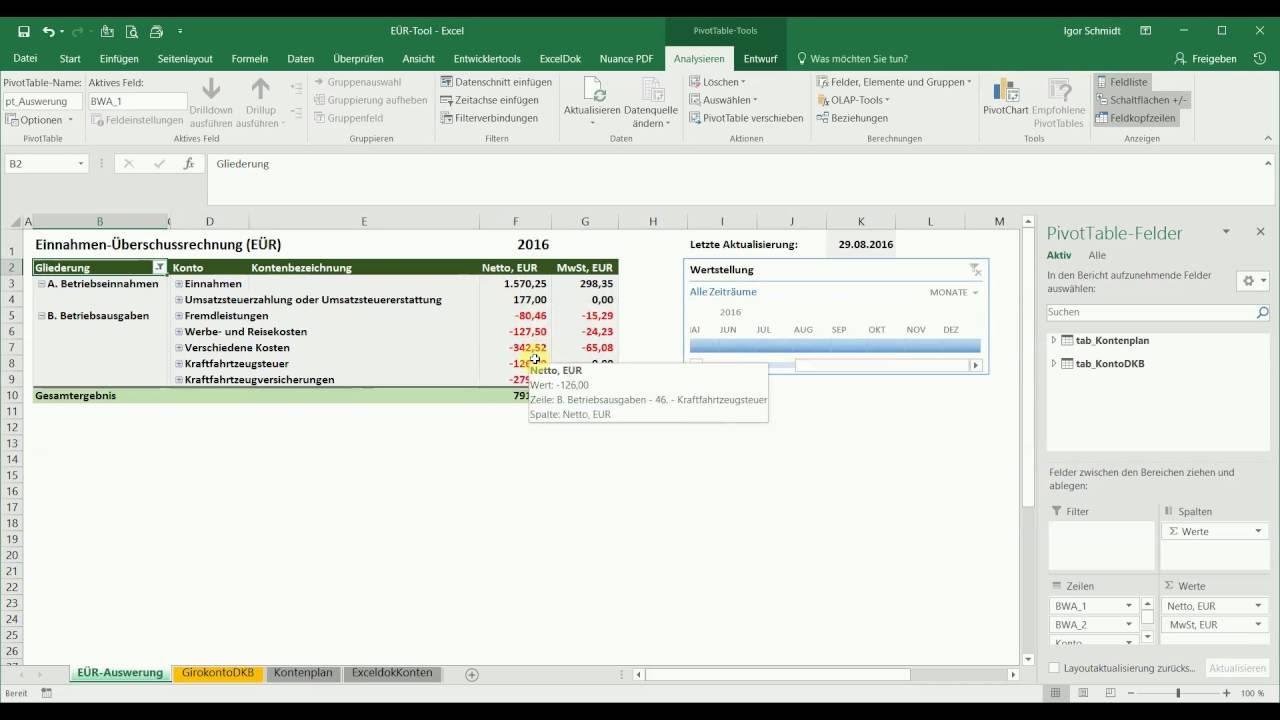 Excel Tool Für Kleinunternehmen Einnahmen Und Ausgaben Youtube