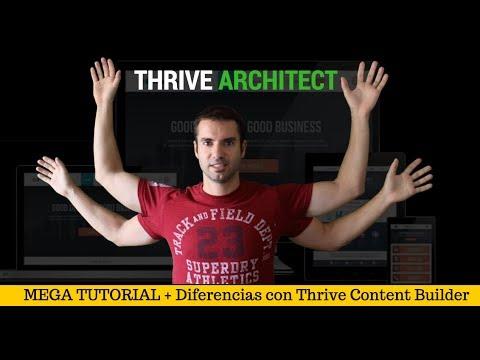 Thrive Architect – MEGA TUTORIAL + Diferencias con Thrive Content Builder