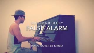 Matoma & Becky Hill - False Alarm (Piano Cover)