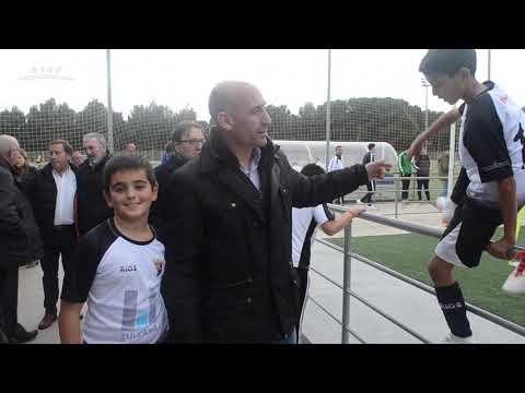 Luis Rubiales visita las instalaciones donde juega el CD Tudelano