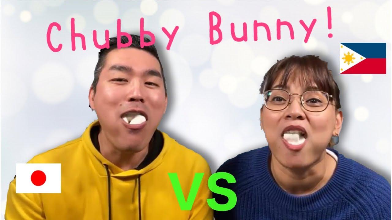 cheek face wubby say chubby Bunny