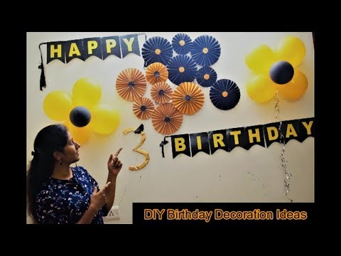 Diy Birthday Paper Crafts Birthday Decoration Ideas In Tamil Make Birthday Decors At Home Youtube
