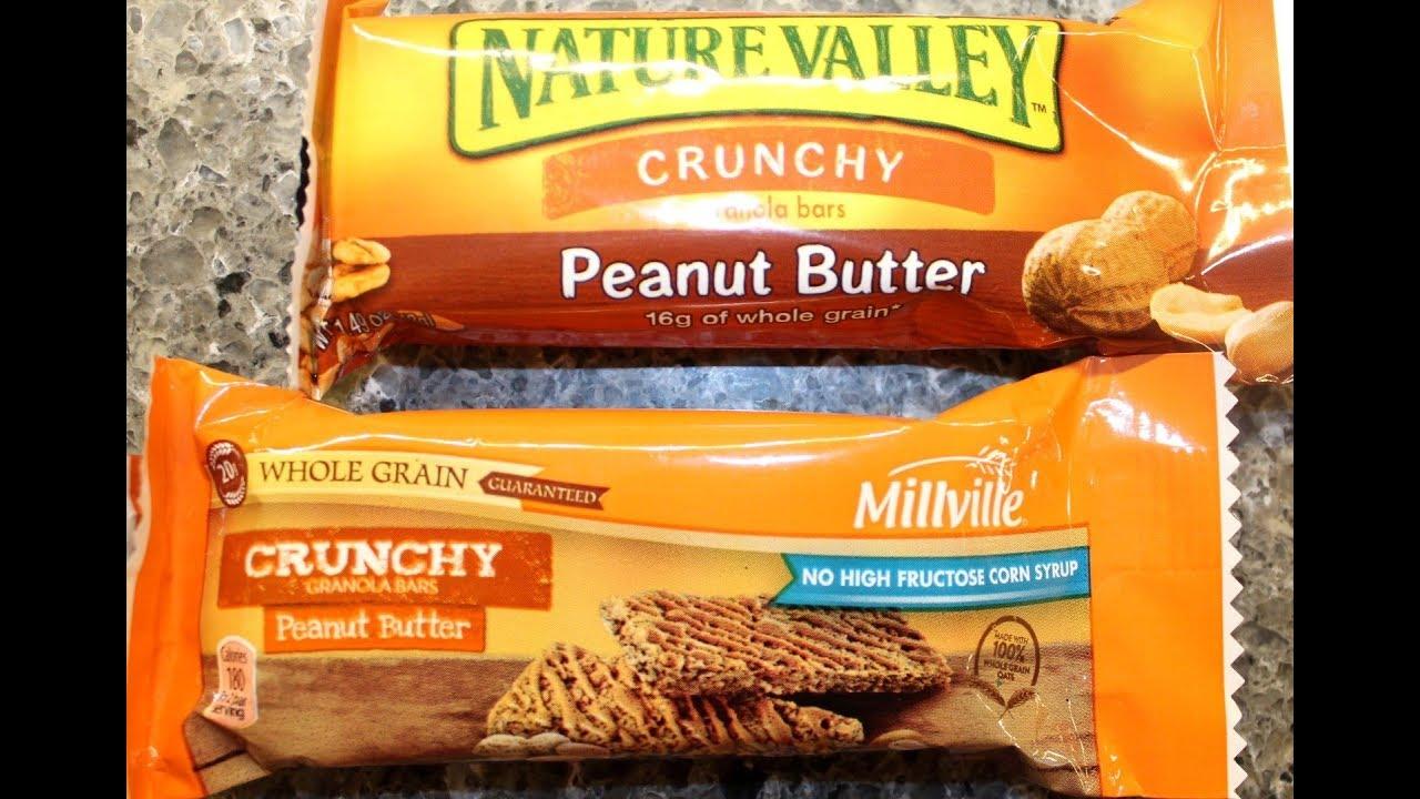 Millville vs Nature Valley Crunchy Granola Bars: Peanut Butter Comparison &  Review