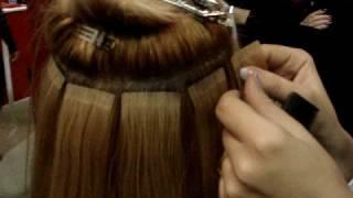 мастер-класс ленточное наращивание волос