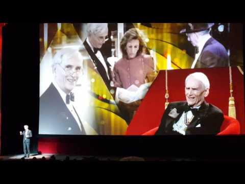 John D. McKellar being honoured by his son Don McKellar