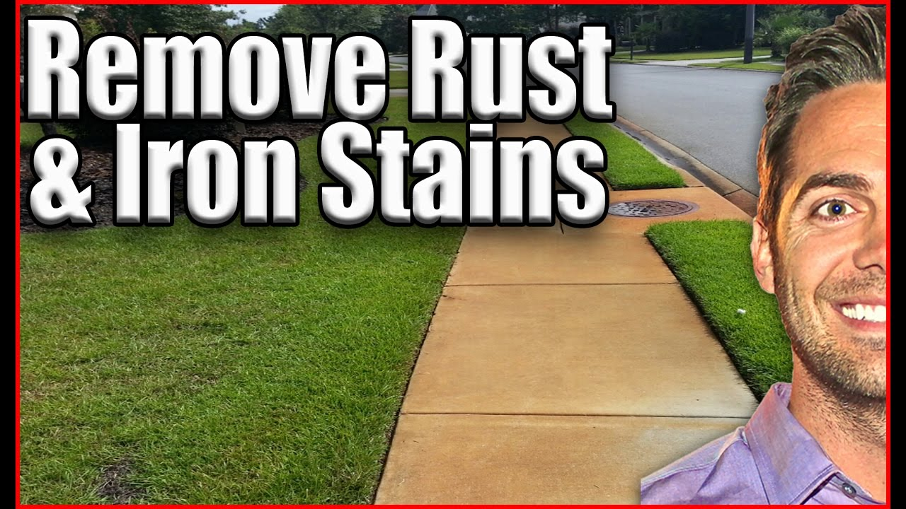 how to get rust stains out of pavers