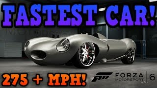 Forza Motorsport 6: Fastest Car In The Game! - Jaguar D-Type! (275+ MPH!)