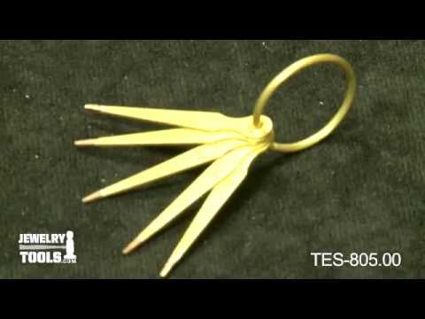 TES-805.00 - Gold Test Needles, Set of 5 - Jewelry Making Tools Demo