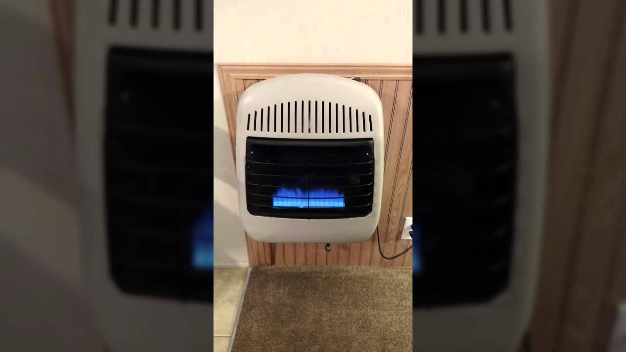 Gas Wall Heater Installation My Gas Wall Heater Youtube
