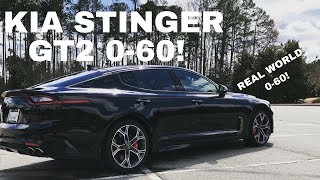 2018 Kia Stinger GT2 0-60 Real World Timed Test Run