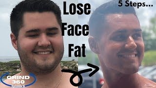 How to Lose Face Fat for Men | 5 Steps to Lose Double Chin & Lose Chubby Cheeks