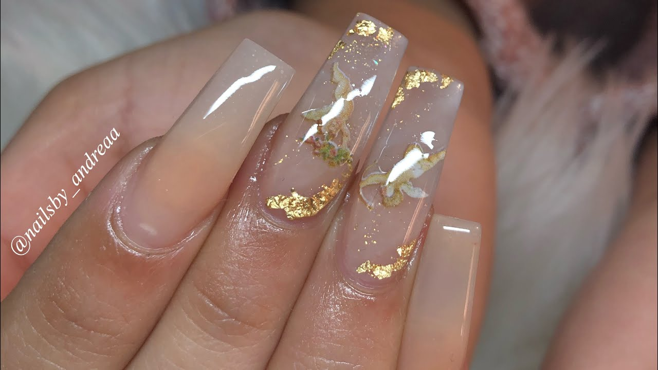 Angel Nails Acrylic Nails Tutorial Youtube In 2020 Angel Nails Clear Acrylic Nails Long Acrylic Nails Coffin