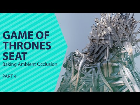 texturing the game of thrones seat in blender 2.8 baking ambient occlusion