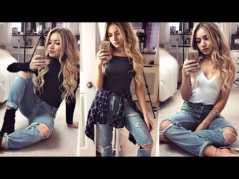 1 PAIR OF BOYFRIEND JEANS 4 WAYS! / How I Style Boyfriend Jeans