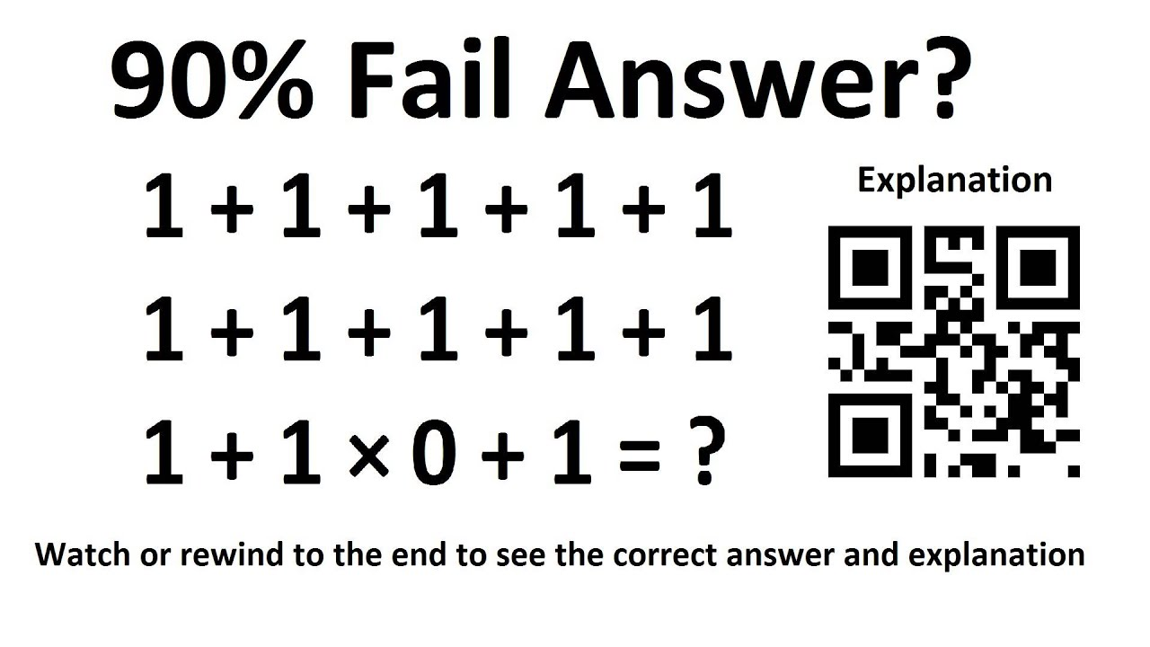 90 People Fail Answer What About You Mathematical Puzzle