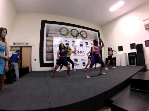 Step dance en final de premiación del Sudamericano de cross Asunción 2014