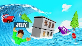 SURVIVE The TSUNAMI In ROBLOX! (Natural Disasters)