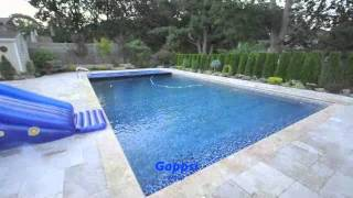 Fish Ponds Construction, Swimming Pools With Auto Cover, Travertine Patio  Long Island Gappsi