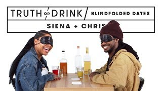 Blind(folded) Blind Dates (Siena & Khris) | Truth or Drink | Cut