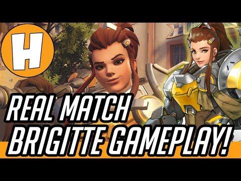 Overwatch - Brigitte Gameplay (PTR REAL MATCH!) | Hammeh