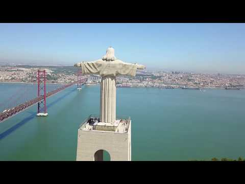 LISBOA - LISBON - LISSABON - PORTUGAL - AERIAL VIEW - DRONE VIDEO - 4K
