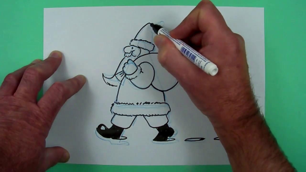 noch ein super einfacher weihnachtsmann zeichnen f r. Black Bedroom Furniture Sets. Home Design Ideas