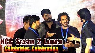 Shivrajkumar Upendra Sudeep &amp Ganesh Counter Dialouges and Funny Talk at KCC Season 2 Launch KCC