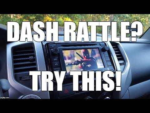 Easy Fix For Toyota Tacoma Dash Rattle (Any Year)
