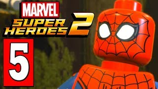 LEGO Marvel Super Heroes 2 Walkthrough Part 5 WAKANDA / MAN APE BOSS