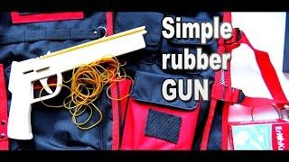 Простой многозарядный резинкострел своими руками / Как сделать пистолет / Sekretmastera рекомендует!