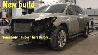 Rebuilding a 2015 Buick Enclave totaled by the air bags that someone else never finished