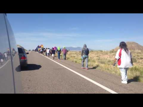 Ute Tribes and Navajo Nations Walking Together