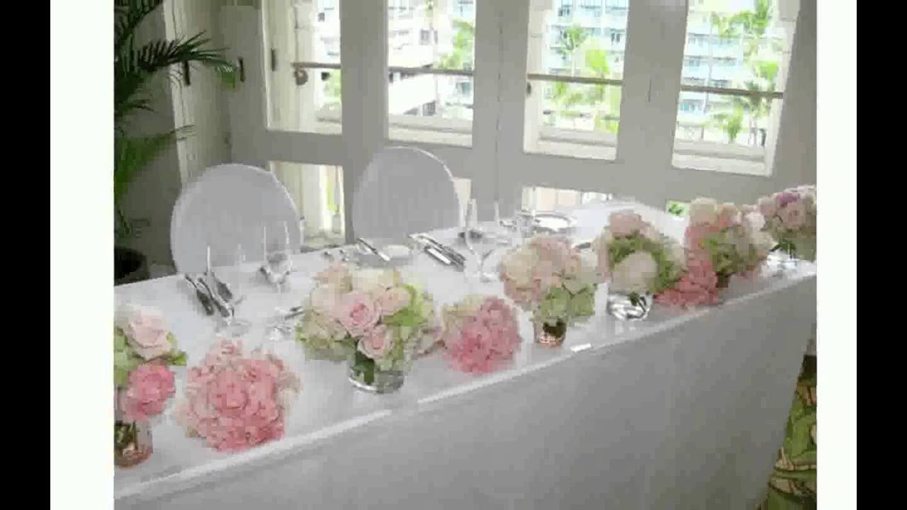 Wedding Top Table Flowers   YouTube