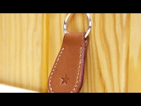 Make a Simple Leather Key Ring - DIY Style - Guidecentral
