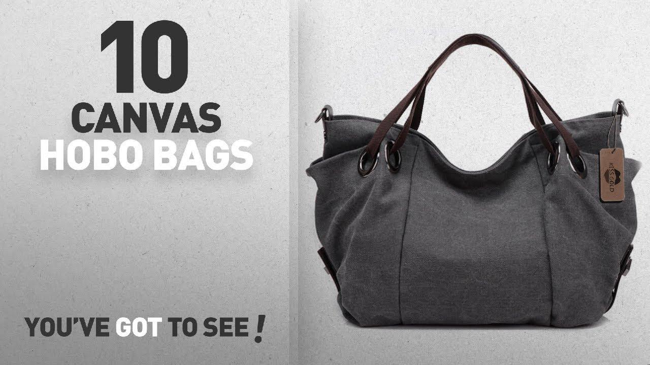e3f97da6179 Top 10 Canvas Hobo Bags For Women  KISS GOLD(TM) Women s Canvas Hobo ...