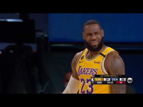Lebron gets fouled hard and there is no call