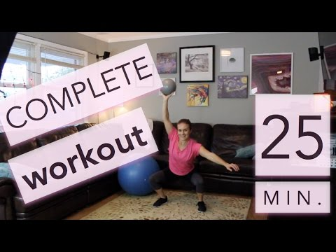 25 Min. Complete Workout // Medicine Ball vs. Stability Ball