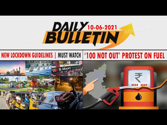 GLB | DAILY BULLETIN 10 JUNE, 2021 GULBARGA