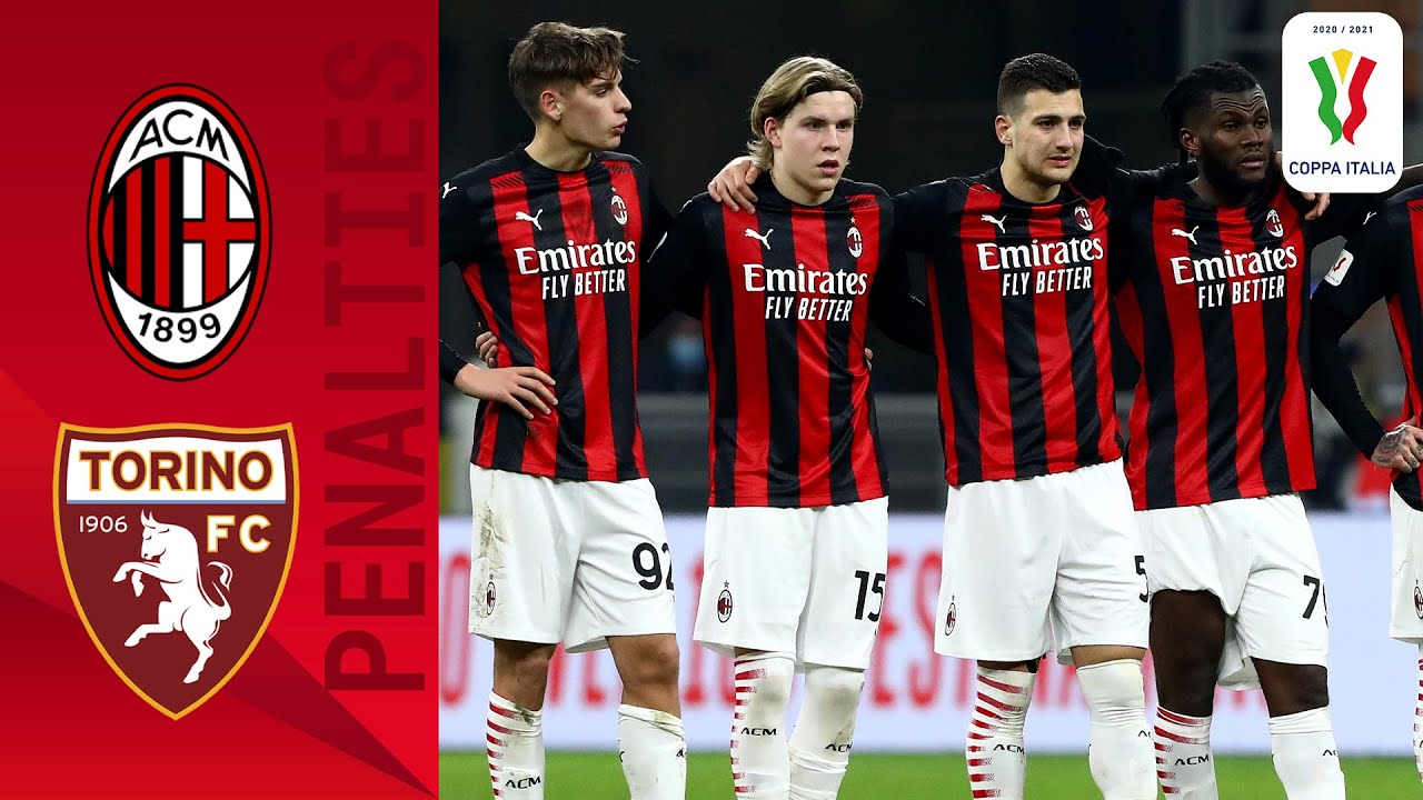 Milan 0-0 (5-4) Torino - Full Penalty Shoot-out   Coppa Italia 2020/2021