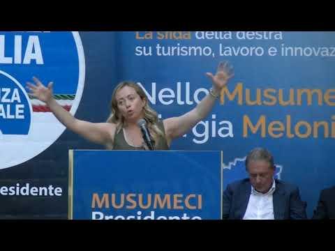 Intervento On Giorgia Meloni alla Villa Palmeri