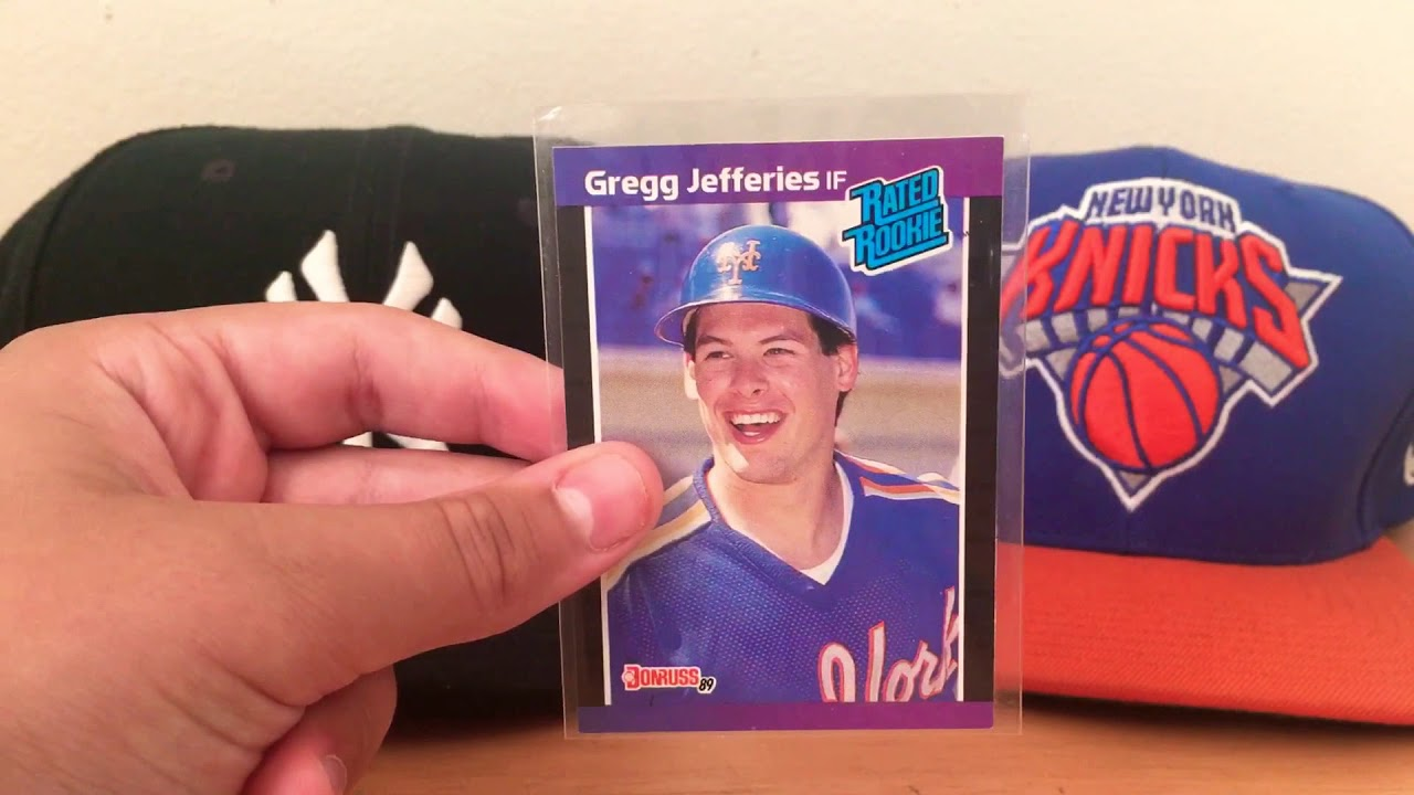 Gregg Jefferies Rookie Card Review Youtube