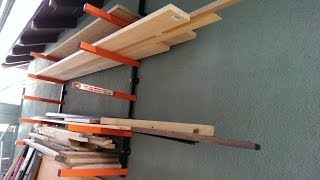 Wall Mount Lumber Rack System
