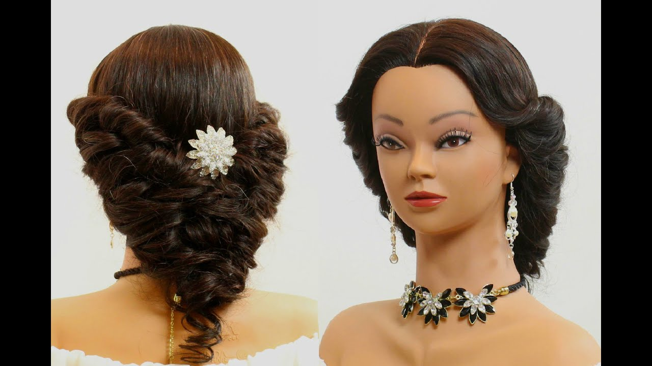 Cute prom hairstyle for long hair Tutorial